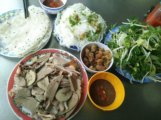 Bánh hỏi lòng heo Phan Rang