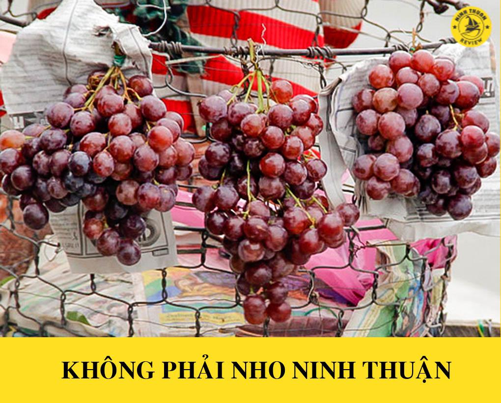 Cách phân biệt nho Ninh Thuận với nho Trung Quốc