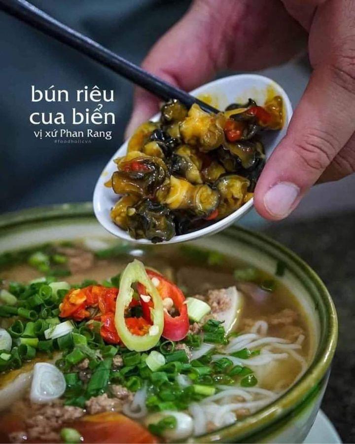 Dac san bun rieu cua bien Phan Rang